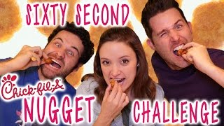 One of Erin Elyse's most viewed videos: 60 Second Chick-fil-a Nugget Challenge (with Josh & Adam)