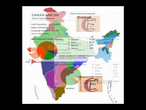 Language Map Of India 2013 Learn Through Maps Youtube