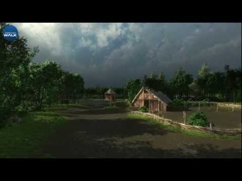 Iron age house reconstruction - Virtual archaeology