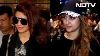 Spotted! Jacqueline Fernandez and Sonakshi Sinha At Mumbai Airport thumbnail