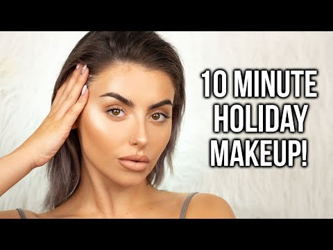 10 MINUTE EASY SUMMER / SWEATPROOF MAKEUP TUTORIAL! NO FOUNDATION + FLUFFY BROWS! AD thumbnail