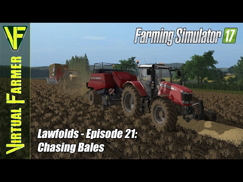 Let's Play Farming Simulator 17 - Lawfolds, Episode 21: Chasing Bales