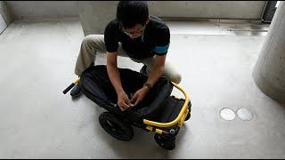 折たたみ方・タイヤの外し方(ストローラーA/AS)