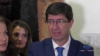 JUAN MARIN EL VPTE DE LA JUNTA DE ANDALUCÍA, VISITA MINA RIOTINTO