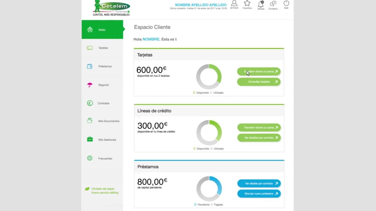 espacio cliente cetelem: ¿cómo realizar un ingreso en cuenta? - youtube