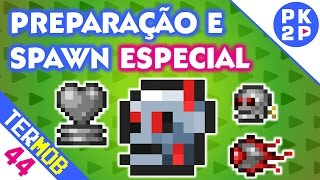 Criando Spawn Complexo do Boss Ocram • Terraria Mobile #44
