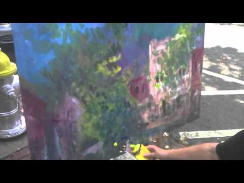 Tanya Richey Plein Aire Acrylic Painting Demonstration