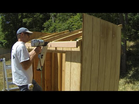 How To Build A Lean To Shed - Part 5 - Roof Framing