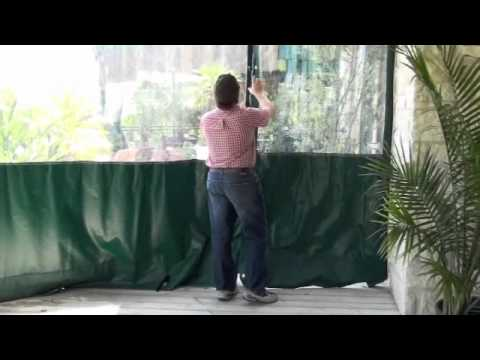 Clear Plastic Vinyl Patio Curtains  Walls  YouTube