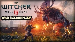 Fighting, Killing, and Kissing Montage - The Witcher 3: Wild Hunt PS4 Gameplay