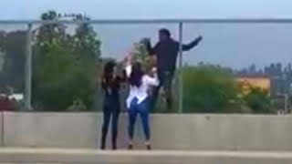 Download Women Talk Man Clinging to Overpass Out of Killing Himself Mp3 and Videos