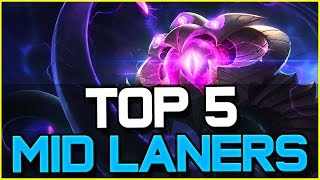 top 5 best mid laners patch 6 12   league of legends