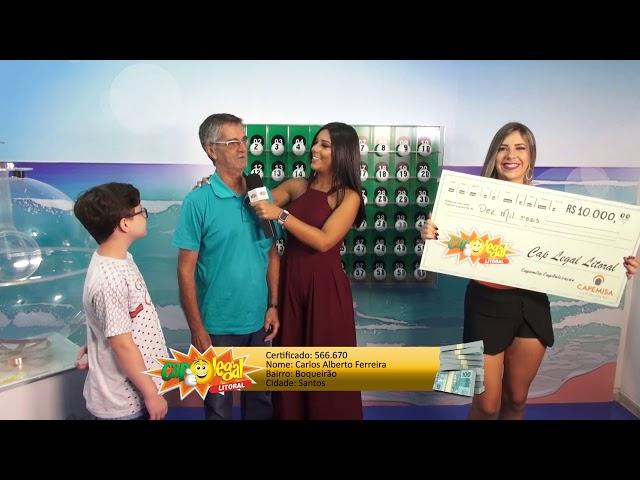 Carlos Ferreira, de Santos, levou 10 Mil Reais 🤩