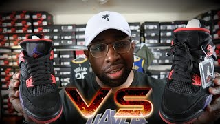 JORDAN 4 OVO DRAKE SIGNATURE VS RAPTOR 4!!! WHAT IS THE DIFFERENCE?