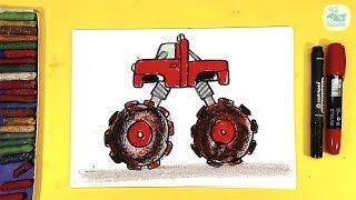 Как нарисовать МАШИНУ МОНСТР-ТРАК / Monster trucks