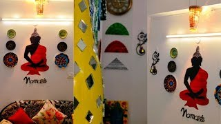 Extreme!! Passage Area wall makeover (Guest Appearance)||Budget Friendly Buddha Wall Decor Ideas