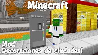 Minecraft 1.7.10 MOD DECORACIONES DE CIUDADES! Saracalia's Random Stuff Mod Español!