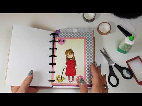 My Happy Planner Gorguss junk journal decorating #1