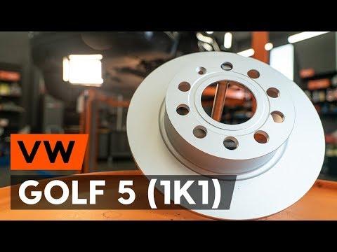 Как заменить задние тормозные диски наVW GOLF 5 (1K1)[ВИДЕОУРОК AUTODOC]
