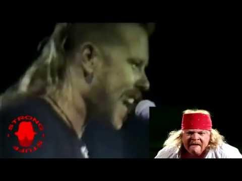 James (Metallica) Imitates AXL Rose (Guns 'N' Roses)