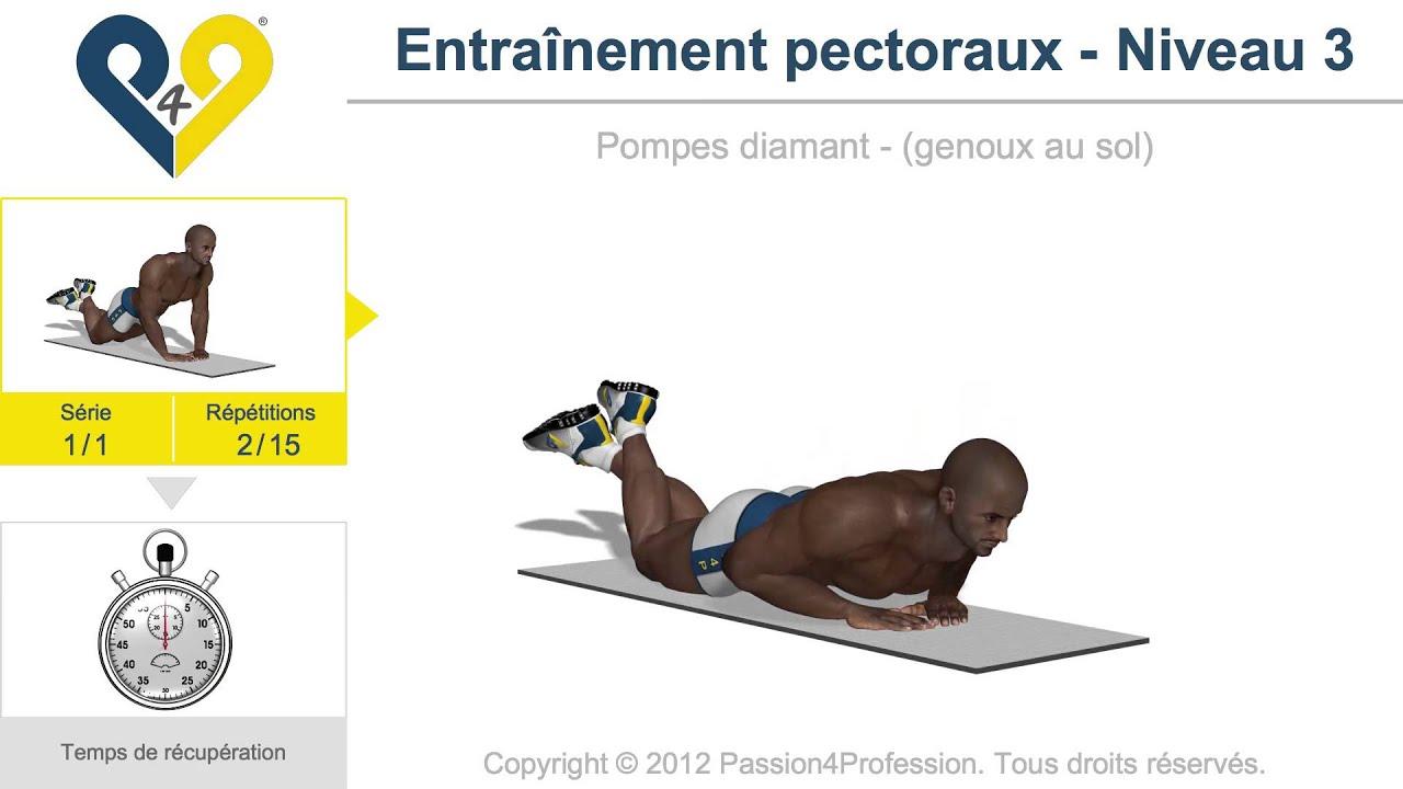 Extrêmement exercice musculation pectoraux sans matériel - YouTube BJ98