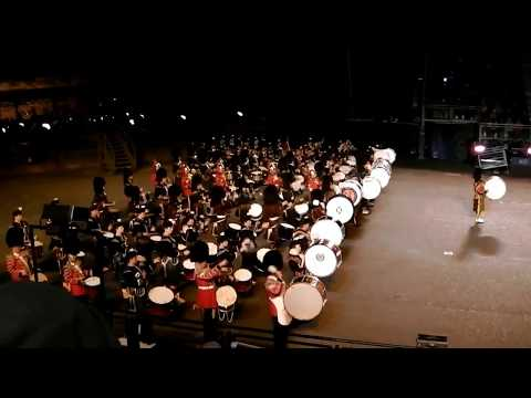 Bagpipes And Drums Music Royal Military Tattoo Edinburgh Castle Scotland