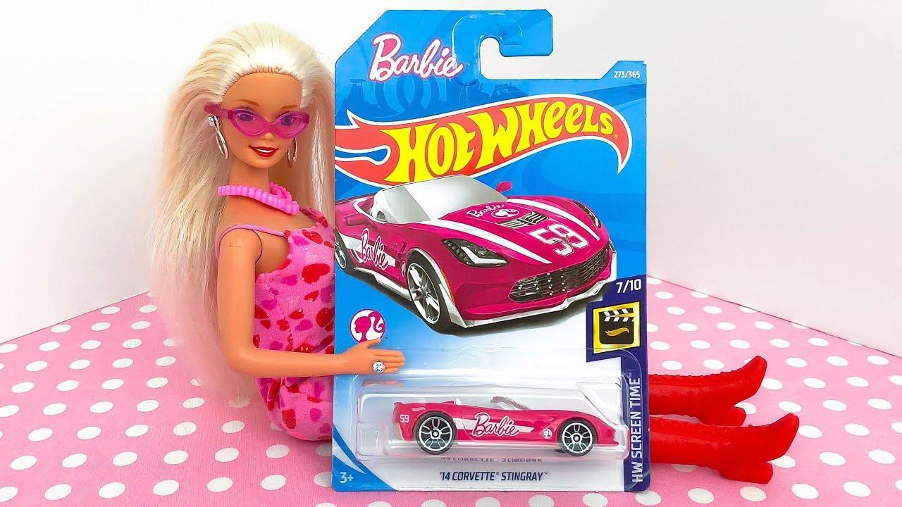 Barbie 60th Anniversary /'14 Corvette Stingray 2019 Hot Wheels Screen Time