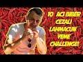 ACI BİBER CEZALI LAHMACUN YEME CHALLENGE! (AĞLADIK)