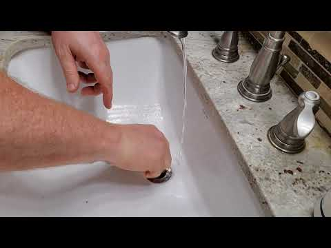 How to unclog a sink.