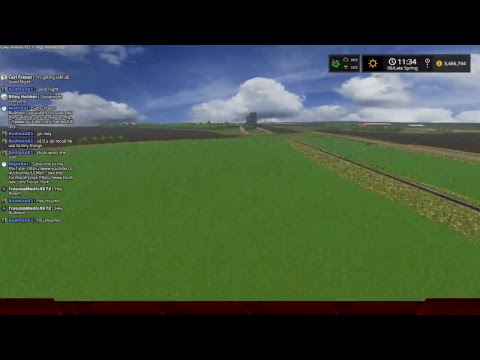 Farming Simulator 17 West Central Map, back playing on the dedicated server.