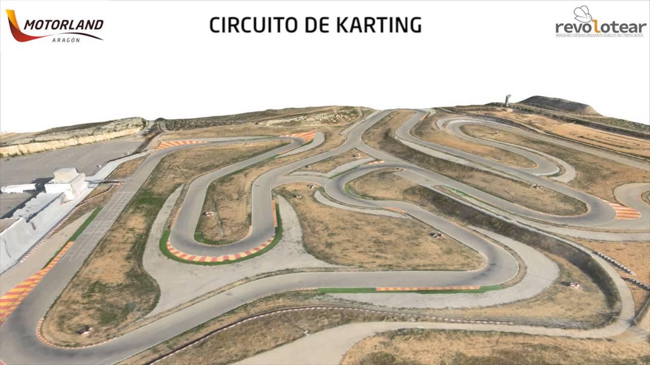 Circuito Motorland : El circuito internacional de karting de motorland aragón a vista de