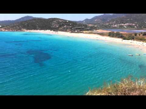 Spiaggia torre Chia Travel Video