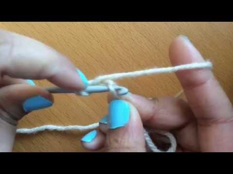 Left-handed Chainless Double Crochet (US) Or Treble Crochet (UK) Foundation