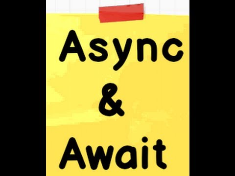 What are Async and Await ( .NET 4.5 Interview question with answers)?