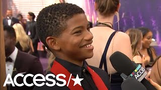 'This Is Us' Star Lonnie Chavis Shows Off His Party Dance Moves On Emmys Red Carpet
