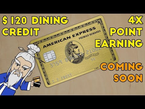 NEW Amex PRG $120 Dining Credit + 4x On Restaurants And Supermarkets