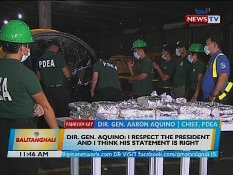 Panayam kay Dir. Gen. Aaron Aquino, chief, PDEA