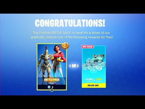 "How to Get ""FREE VBUCKS"" in Fortnite Season 9! - New ""FREE VBUCKS"" Glitch! (Free Fortnite Mega Sale)"