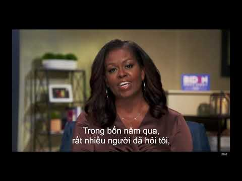 Michelle Obama's Speech at the 2020 DNC With Vietnamese Subtitles