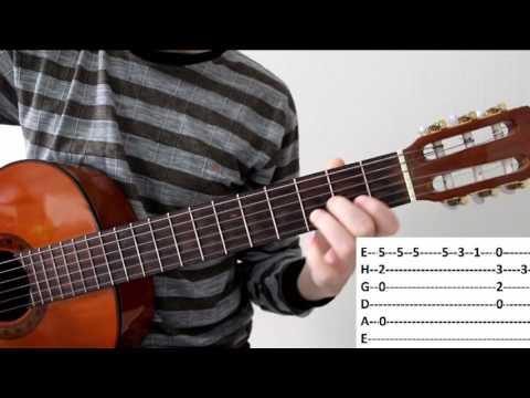 Разбор красивой песни на гитаре Besame Mucho для новичков