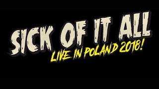 SICK OF IT ALL - LIVE IN POLAND 2018! | 21 August @ U Bazyla | Poznan