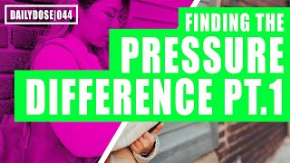 FE EXAM FLUID MECHANICS - PRESSURE DIFFERENCE PART 1 | FE EXAM PRACTICE PROBLEM | DAILYDOSE 044