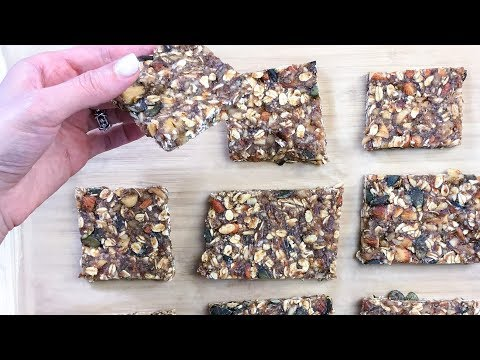Date, Pumpkin Seed, Almond and Oat Bars