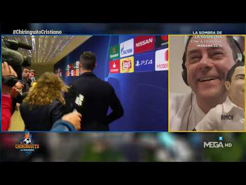Cristiano, con Edu Aguirre: 'Un ABRAZO para El Chiringuito, Roncero y TODO AMANTE del MADRID'