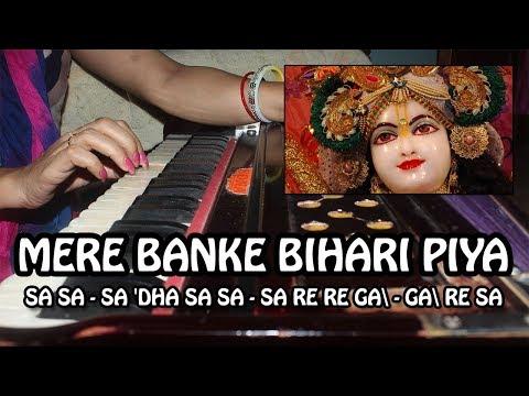 Mere Banke Bihari Piya - Harmonium Tutorial & Notation by Rashmi Bhardwaj