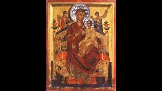 Водосвятный молебен с акафистом Божией Матери перед иконой Всецарица. Служит иеромонах Захария. СУПЛ