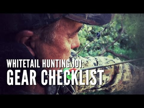 Whitetail Hunting Tips 101: Gear Checklist