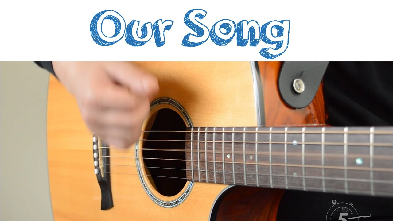 Our Song Taylor Swift Easy Guitar Lesson Youtube