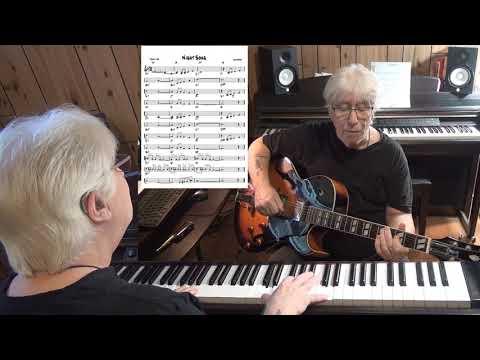 Night Song - Jazz guitar & piano cover ( Lee Adams )