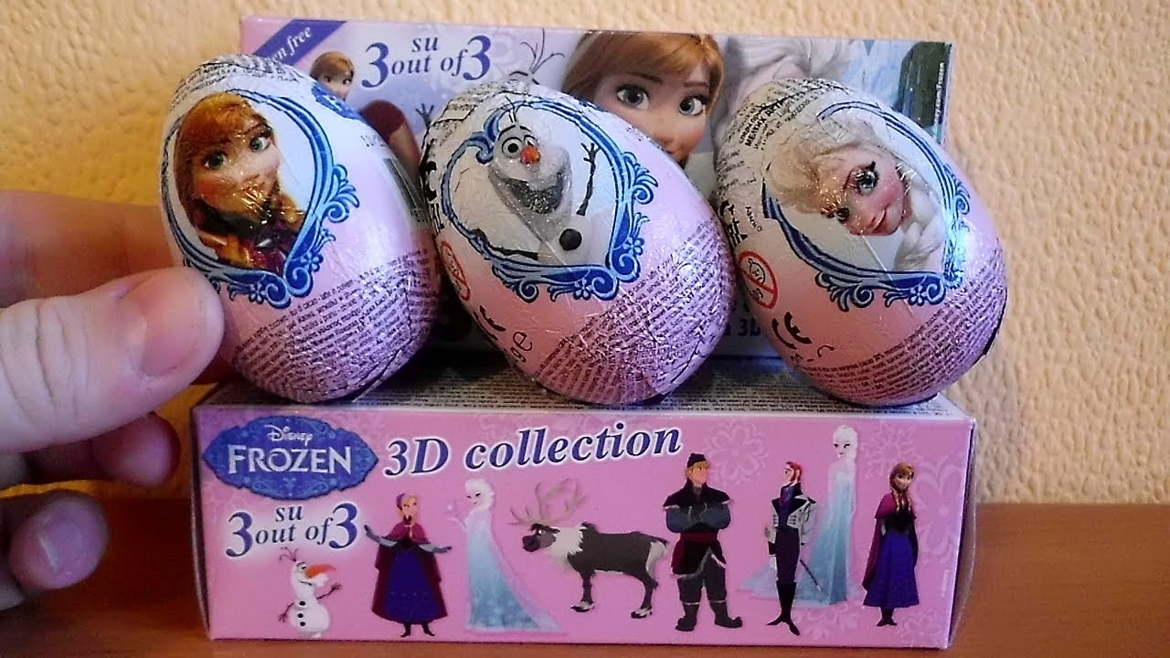 Set 2 The Search For Elsa Frozen 3 Pack Surprise Eggs 3 D